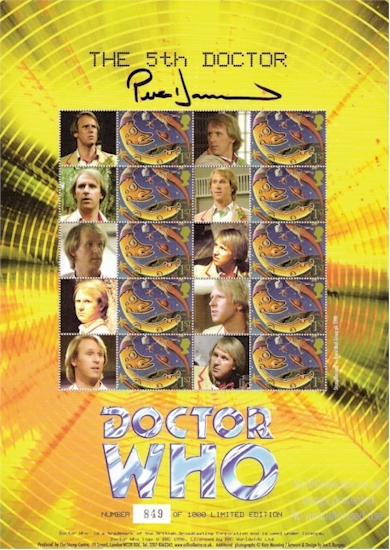 The Fifth Doctor Who Stamp Sheet