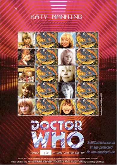 Katy Manning Doctor Who Stamp Sheet
