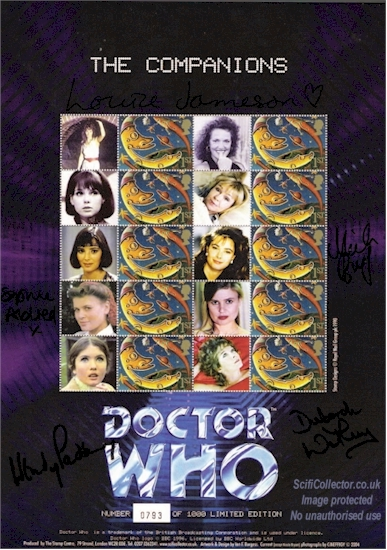 The Companions No.1 Doctor Who Stamp Sheet
