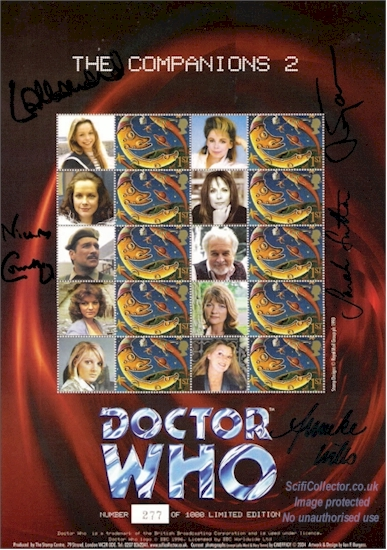 The Companions No.2 Doctor Who Stamp Sheet