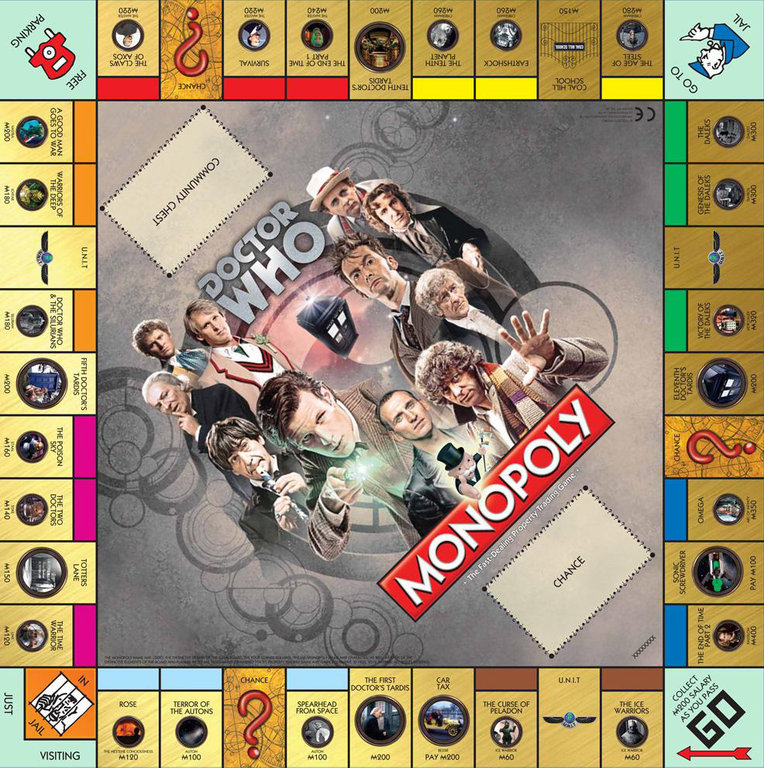 doctor who 50th anniversary edition monopoly