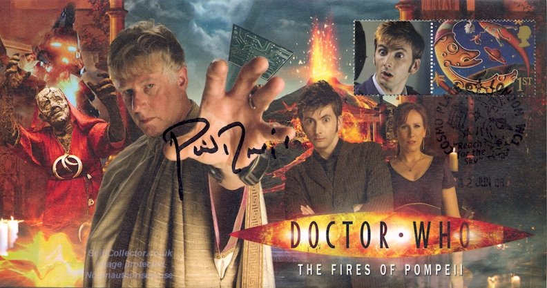 Doctor Who Stamp Cover Episode 2 - Fires of Pompeii