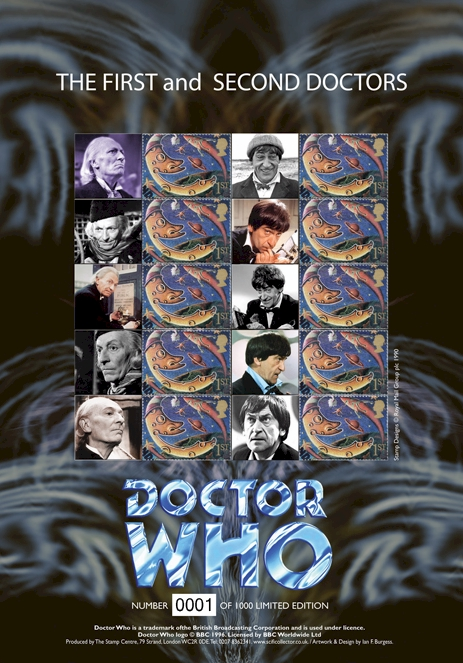 The First & Second Doctors Stamp Sheet