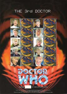 The 3rd Doctor Jon Pertwee Stamp Sheet