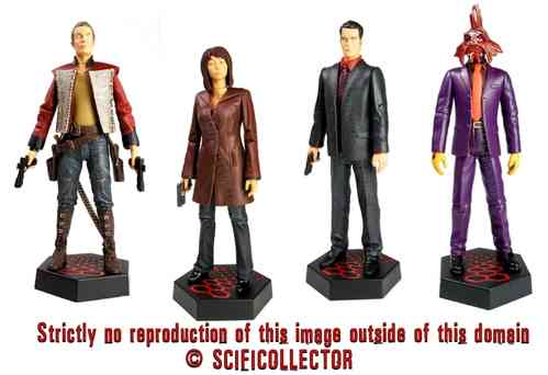 Torchwood Action Figures Wave 2 - Captain John, Tosh, Ianto & Blowfish
