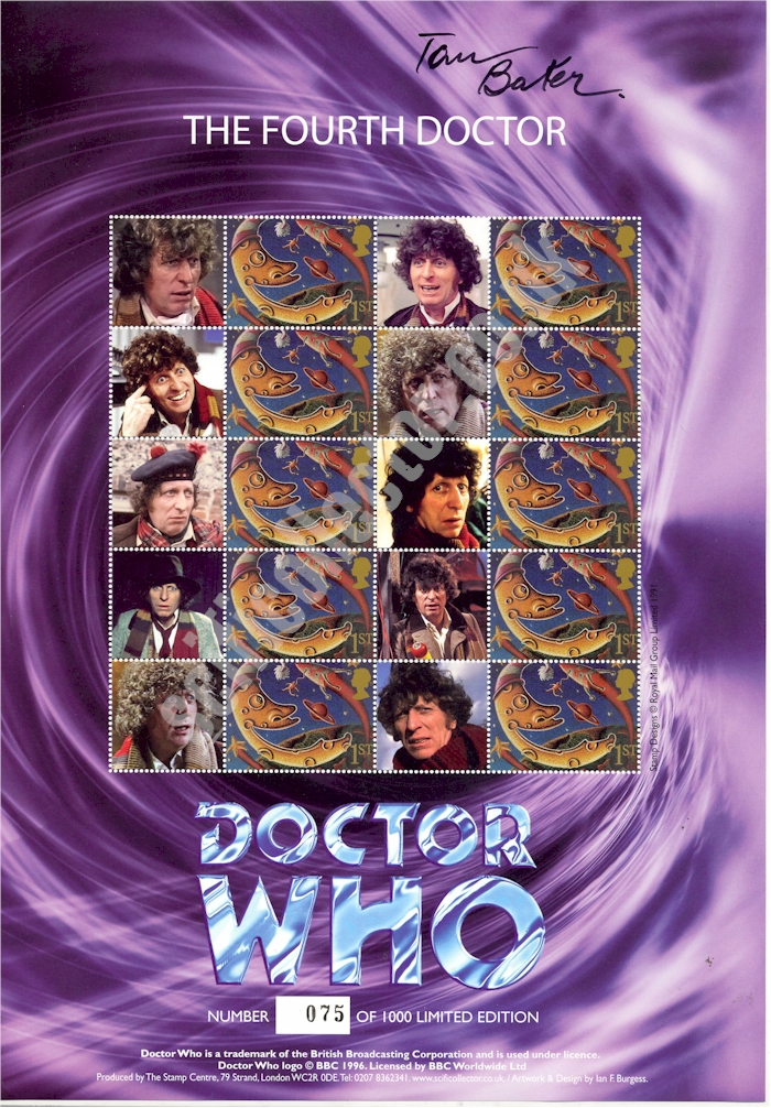 The 4th Doctor Signed Stamp Sheet 2nd Edition