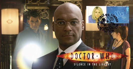 Doctor Who Stamp Cover Episode 8 - Silence in the Library Unsigned