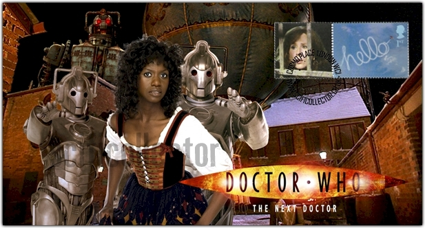 Doctor Who Stamp Cover 2008 Christmas Special - The Next Doctor