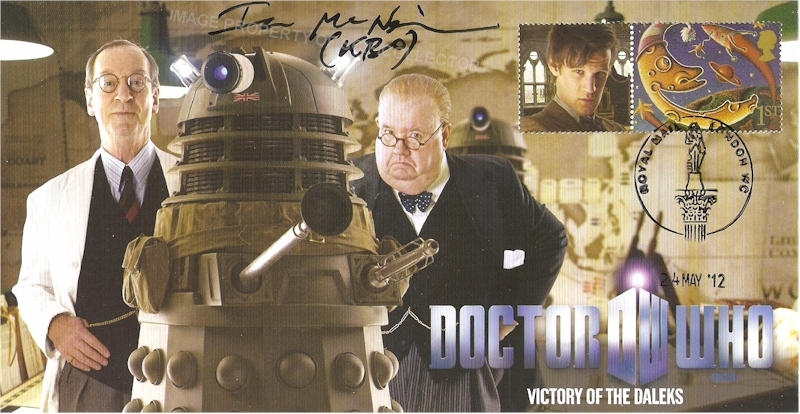 Victory of the Daleks Stamp Cover Signed Ian McNeice