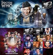 Doctor Who First Day & Commemorative Covers featuring the Royal Mail 50th Anniversary Stamps