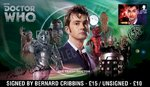 The Tenth Doctor Who Official First Day Cover Signed by Bernard Cribbins