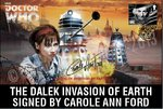 The Dalek Invasion of Earth First Day Stamp Cover Signed Carole Ann Ford