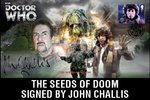 The Seeds of Doom First Day Stamp Cover Signed by John Challis