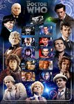 Doctor Who 'Eleven Doctors' A4 Art Print Signed by Tom Baker