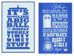 Doctor Who Timey Wimey Tea Towel 2 Pack